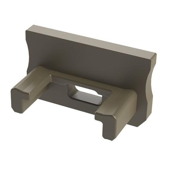 Endkappe für Lumonic Typ A LED Profile Halter Kunststoff Inox