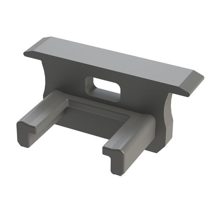 LED Profil Endkappe mit Öffnung für LED Profil Typ B ; Silber