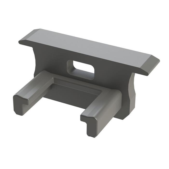 Endkappe für Lumonic Typ B LED Profile Halter Kunststoff Silber
