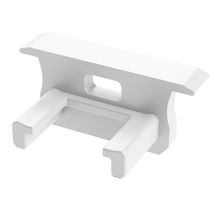 Endkappe für Lumonic Typ B LED Profile Halter Kunststoff Weiß