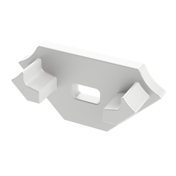 LED Profil Endkappe mit Öffnung für LED Profil Typ C ; Weiß