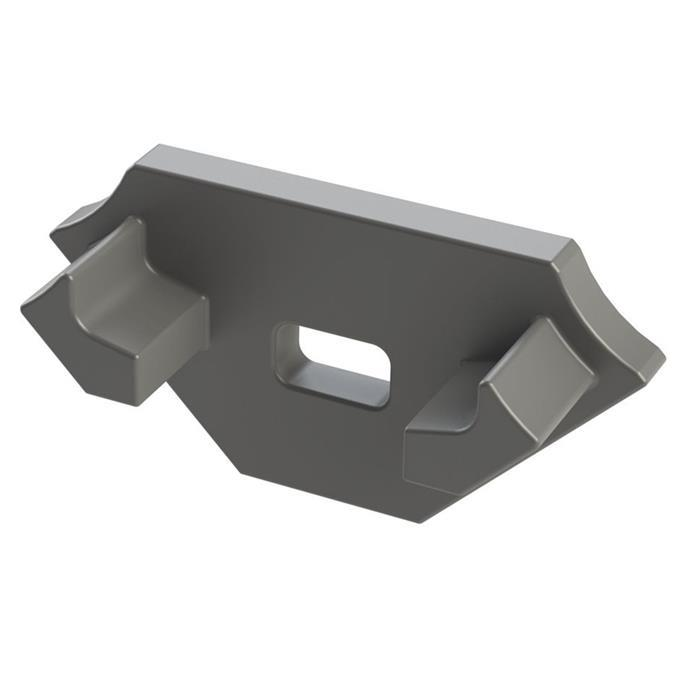 Endkappe für Lumonic Typ C LED Profile Halter Kunststoff Silber