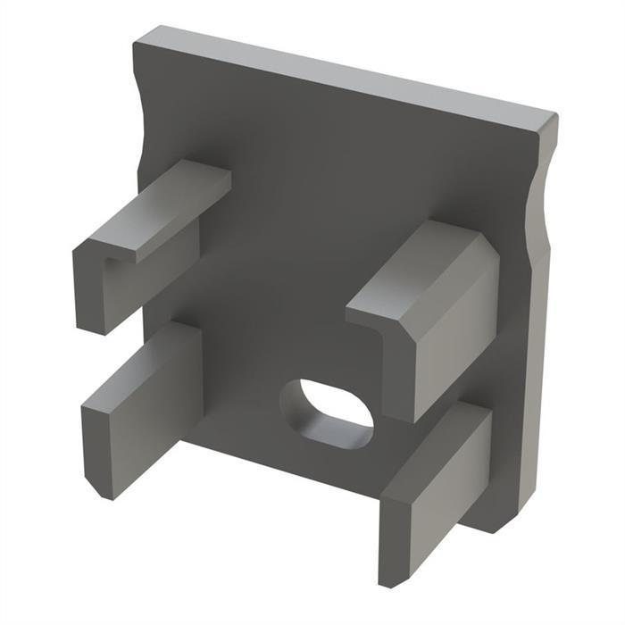 LED Profil Endkappe mit Öffnung für LED Profil Typ Y ; Silber
