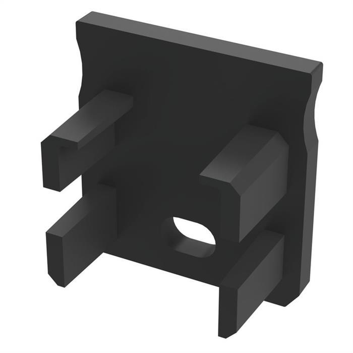 LED Profil Endkappe mit Öffnung für LED Profil Typ Y ; Schwarz