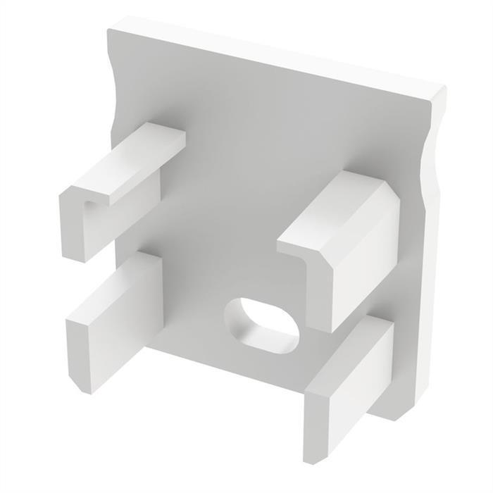 LED Profil Endkappe mit Öffnung für LED Profil Typ Y ; Weiß