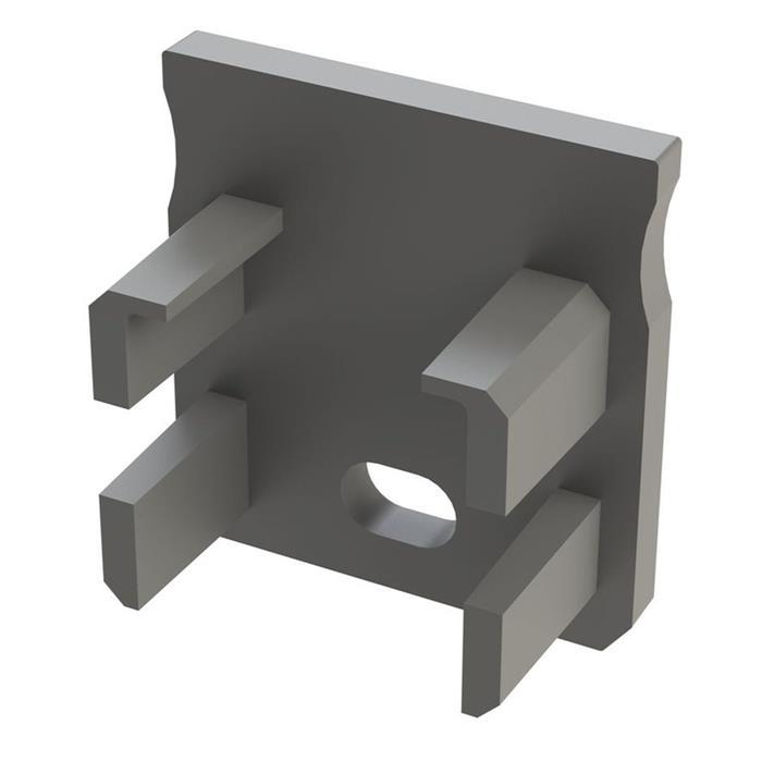Endkappe für Lumonic Typ Y LED Profile Halter Kunststoff Silber