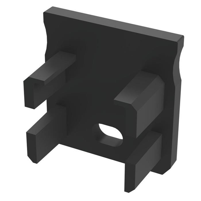 Endkappe für Lumonic Typ Y LED Profile Halter Kunststoff Schwarz