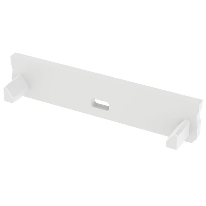 Endkappe für Lumonic Typ Solis LED Profile Halter Kunststoff Weiß