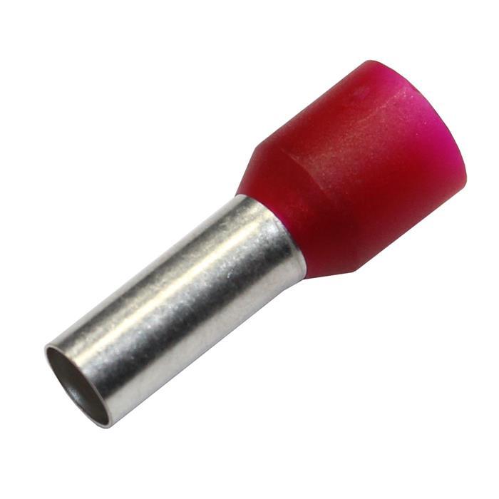 100x Aderendhülsen isoliert 10,0mm² / 12mm rot ; 10mm²