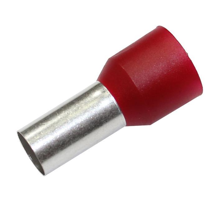 50x Aderendhülse isoliert 35mm² Rot Kupfer verzinnt 8,3x16mm Hülse