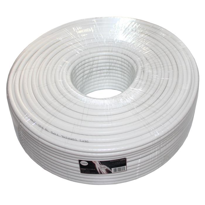 100m TV & Satellite Coaxial Cable 90dB 2x shielded ; DIGITAL 3D HD