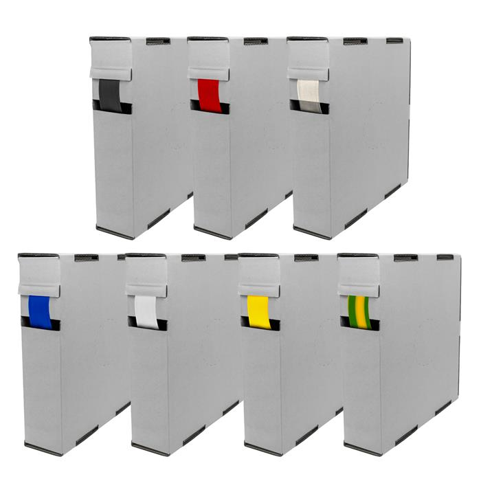 6,5m Schrumpfschlauch Box 2:1 9,5 -> 4,8mm Rot Flexibel