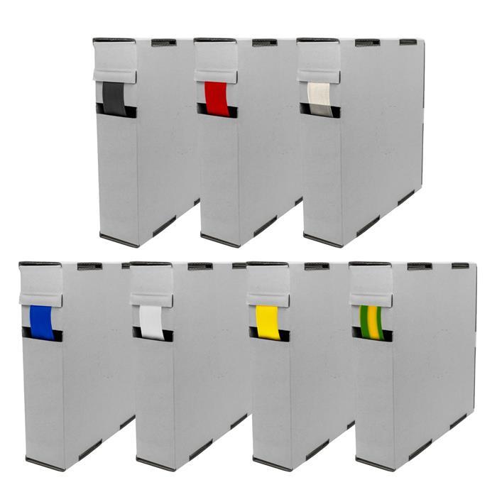 6m Schrumpfschlauch Box 2:1 12,7 -> 6,4mm Rot Flexibel