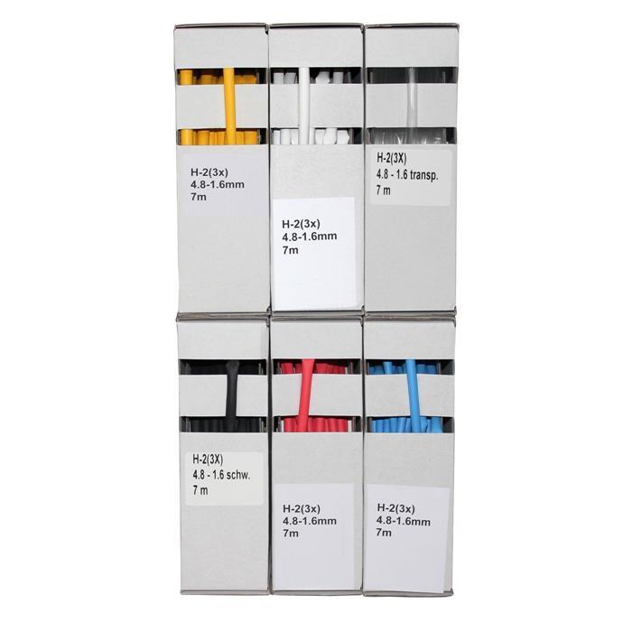 Schrumpfschlauch 7m ; 3:1 4,8-1,6mm ; flexibel ; Weiß