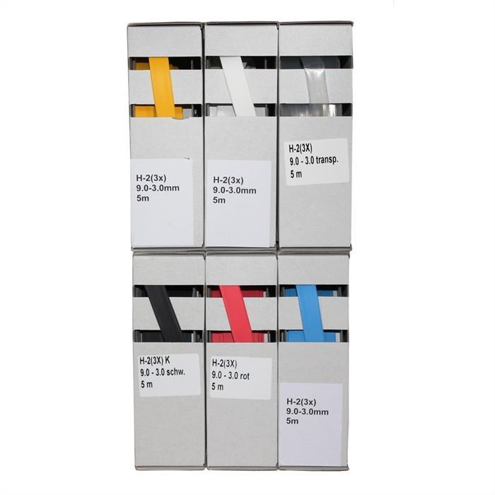Schrumpfschlauch 5m ; 3:1 9,0-3,0mm ; flexibel ; Schwarz