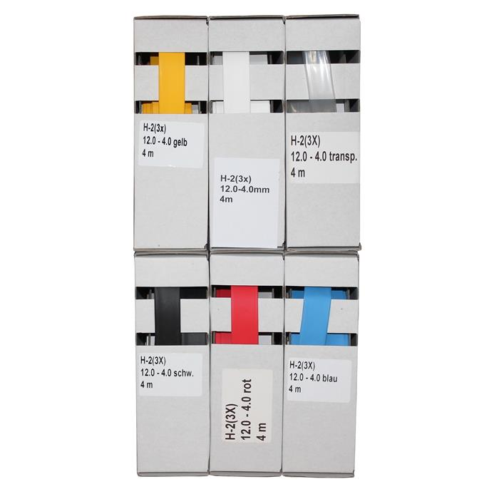 4m Schrumpfschlauch Box 3:1 12 -> 4mm Blau Flexibel