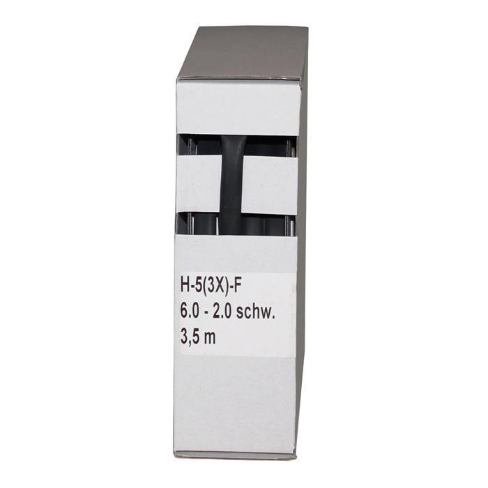 Schrumpfschlauch mit Kleber 3,5m ; 3:1 6,0-2,0mm ; Schwarz