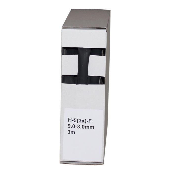 Schrumpfschlauch mit Kleber 3m ; 3:1 9,0-3,0mm ; Schwarz