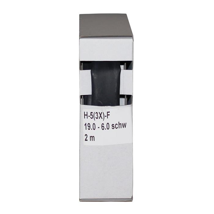 Schrumpfschlauch mit Kleber 2m ; 3:1 19,0-6,0mm ; Schwarz
