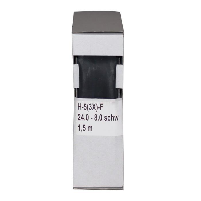 Schrumpfschlauch mit Kleber 1,5m ; 3:1 24,0-8,0mm ; Schwarz