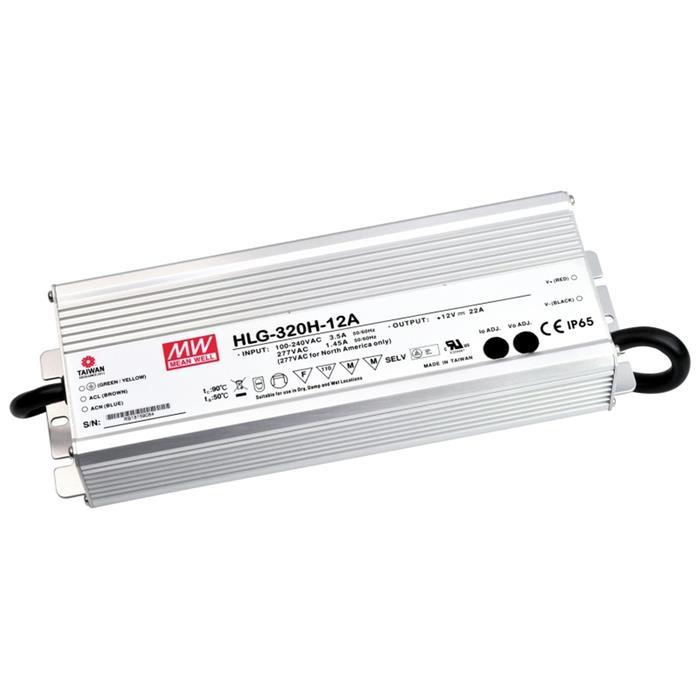 LED Netzteil 264W 12V 22A ; MeanWell HLG-320H-12A ; Schaltnetzteil