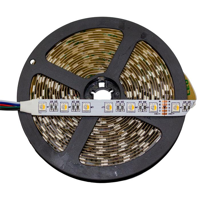 RGBW RGB+W 6000K LED Streifen Band Leiste 4in1 Chip 5m ; 24V IP20