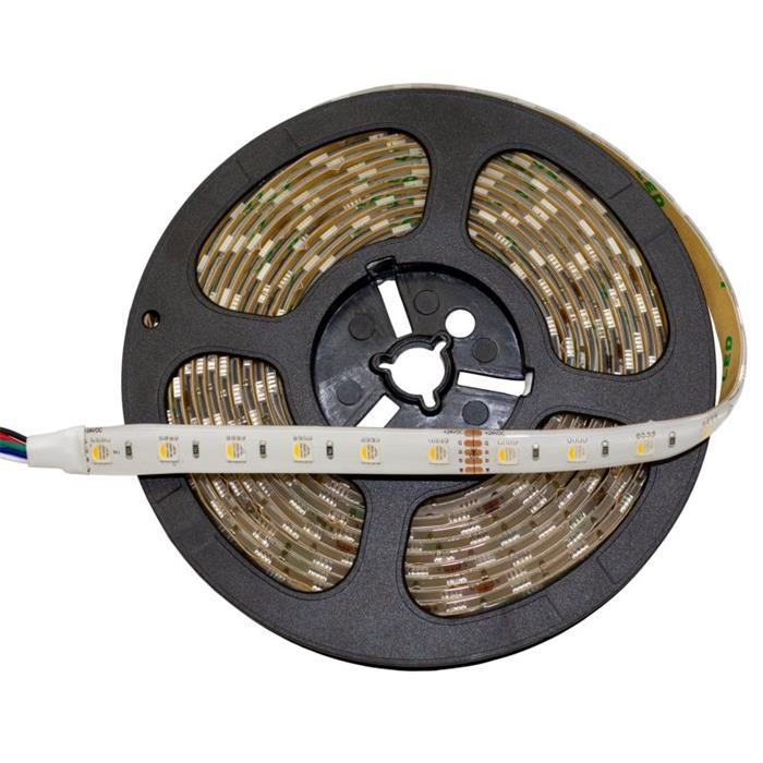 5m (500cm) RGBW 6000K 4in1 LED Streifen Band Leiste 24V IP65 300LEDs 60LED/m SMD5050
