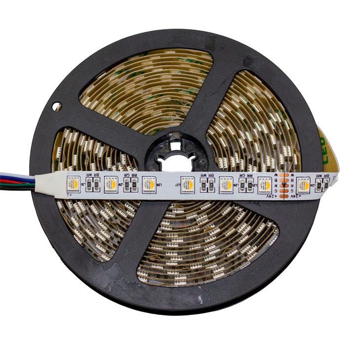 5m (500cm) RGBWW 3000K 4in1 LED Streifen Band Leiste 24V IP20 300LEDs 60LED/m SMD5050