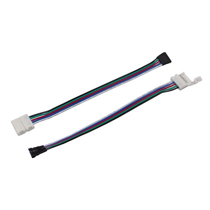 verbinder f r rgbw led streifen 12mm clip kabel buchse gesamtl nge ca 17cm. Black Bedroom Furniture Sets. Home Design Ideas