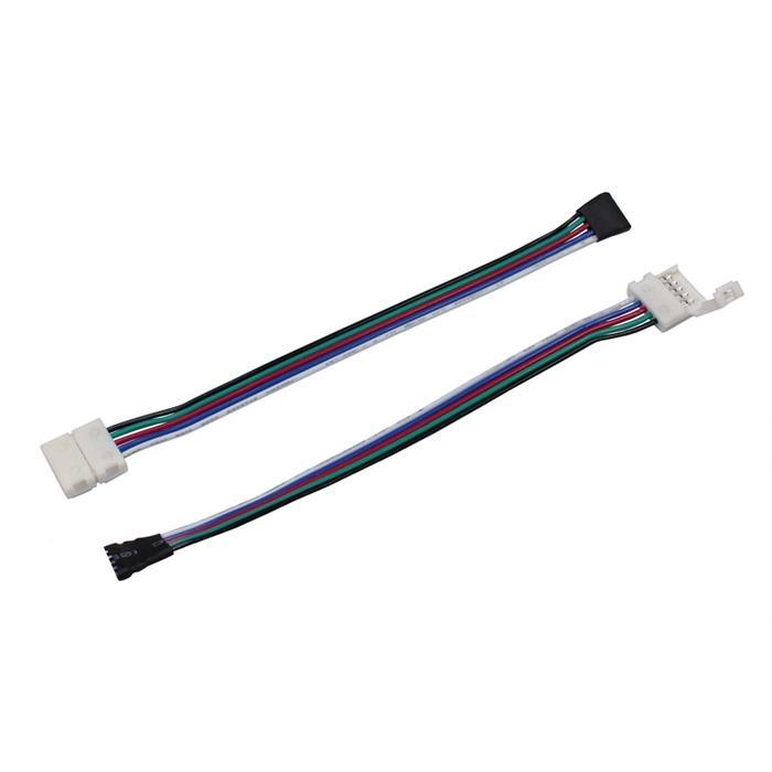 Verbinder für RGBW LED-Streifen 10mm Clip-Kabel-Buchse ; Gesamtlänge ca. 16cm