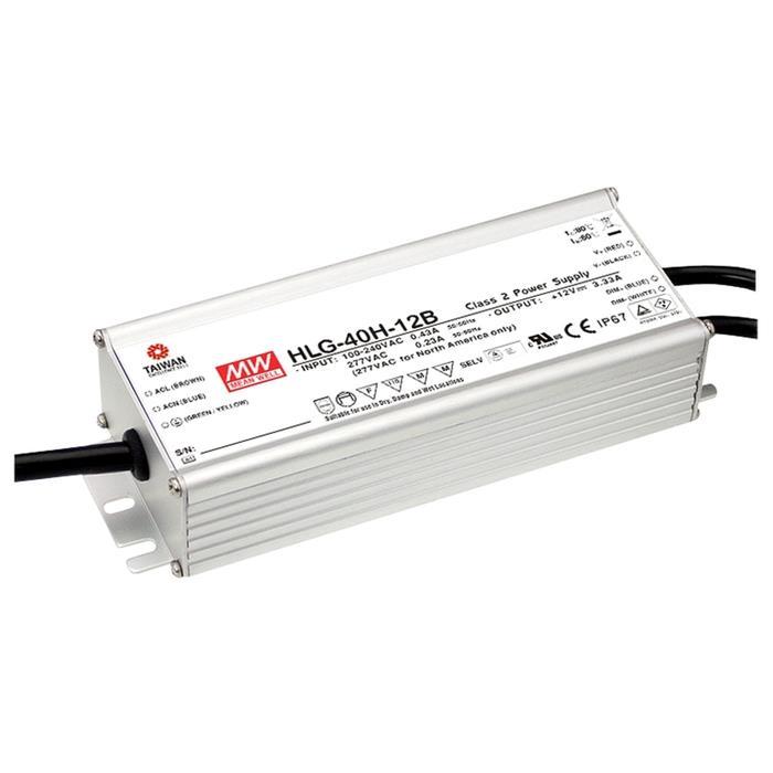 HLG-40H-12B 40W 12V 3,33A LED Netzteil IP67 Dimmbar 0-10V PWM