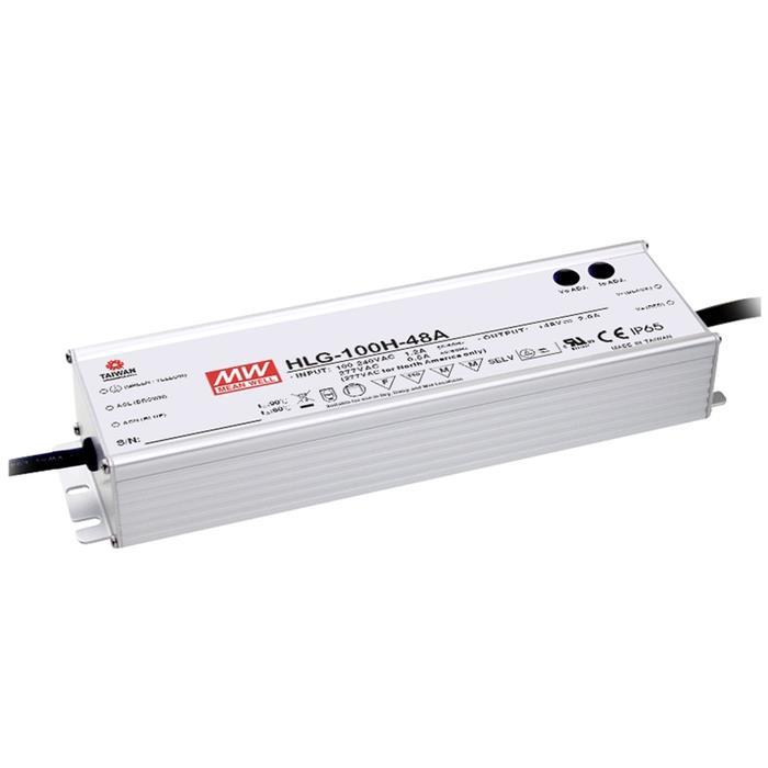 MeanWell HLG-100H-24B 96W 24V 4A LED Netzteil IP67 Dimmbar 0-10V PWM