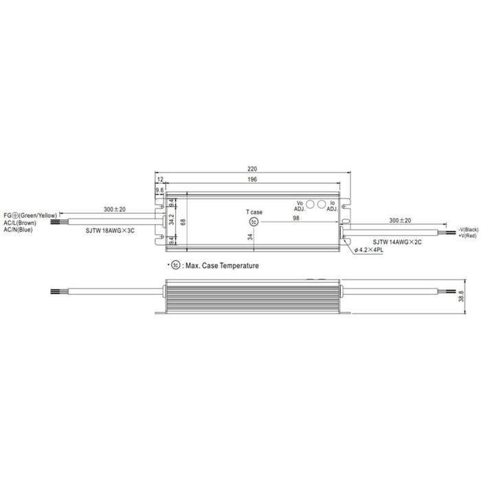 LED Netzteil 120W 15V 8A ; MeanWell HLG-120H-15A ; Schaltnetzteil