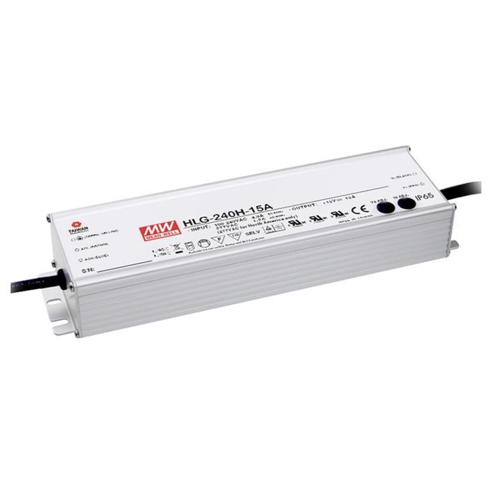 LED Netzteil 225W 15V 15A ; MeanWell HLG-240H-15A ; Schaltnetzteil