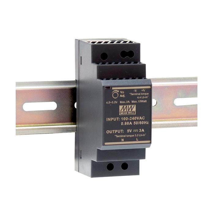 Hutschienen Netzteil 36W 24V 1,5A ; MeanWell HDR-30-24 ; DIN-Rail Trafo