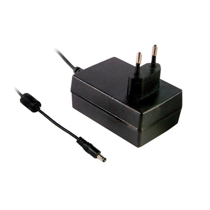 Steckernetzteil 36W 12V 3A ; MeanWell GS36E12-P1J ; EU-Plug 5,5/2,1mm