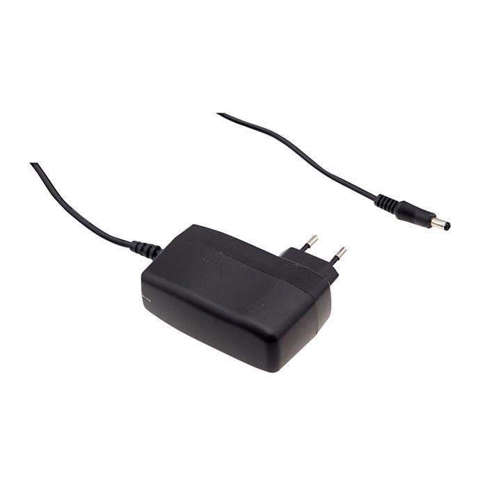 Steckernetzteil schlank 60W 12V 5A ; MeanWell SGA60E12-P1J ; EU-Plug 5,5/2,1mm