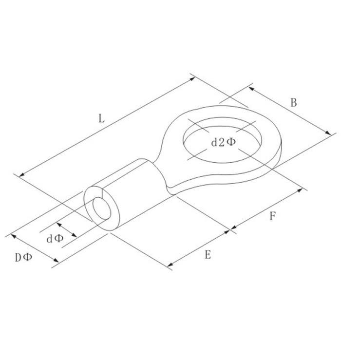 25x Quetschkabelschuh blank 4,0-6,0mm² ; Ringkabelschuh Kabelschuh