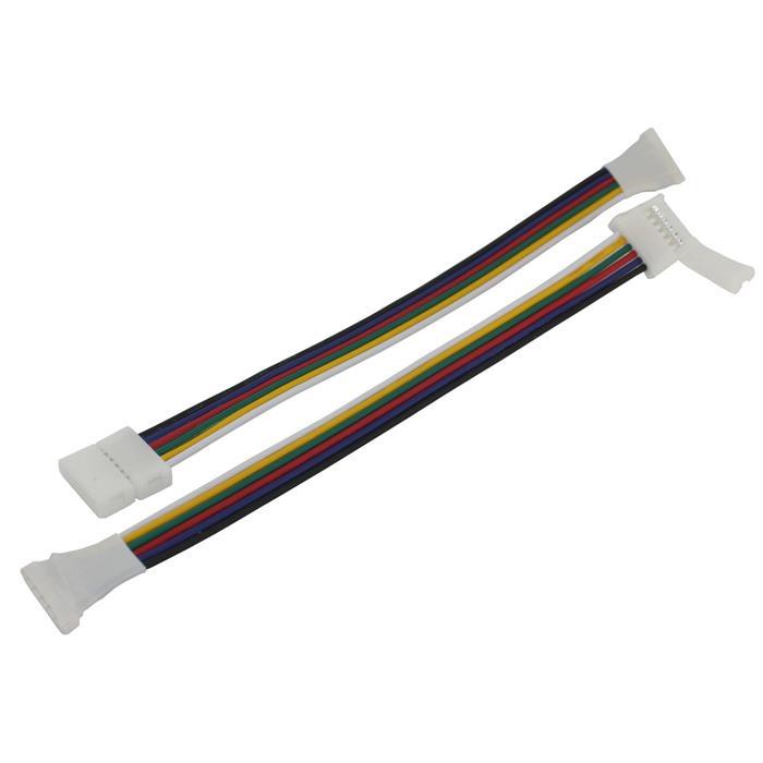 verbinder f r rgbw ww cct led streifen clip kabel buchse gesamtl nge 17cm. Black Bedroom Furniture Sets. Home Design Ideas