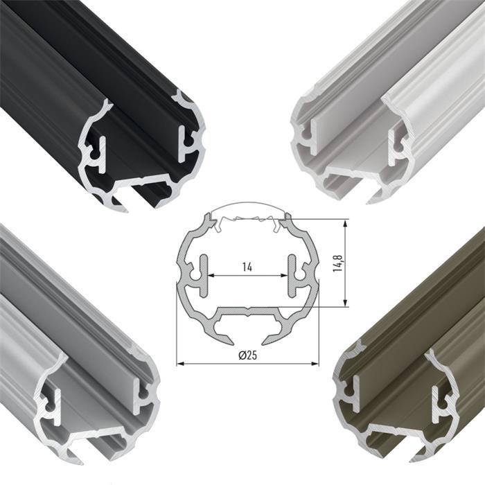 LED-PROFILI-IN-ALLUMINIO-COPERCHI-clip-anellini-ALLUMINIO-ROTAIA miniatura 17