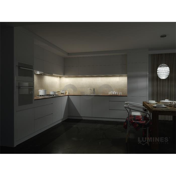 led aluminium profil 1m 55x8mm f r led streifen wei. Black Bedroom Furniture Sets. Home Design Ideas