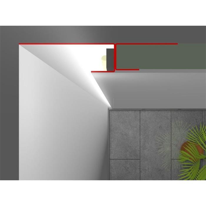 Lichtvouten 35° Länge: 2m ; Rigips LED Trockenbau Profil AWP für Cove light