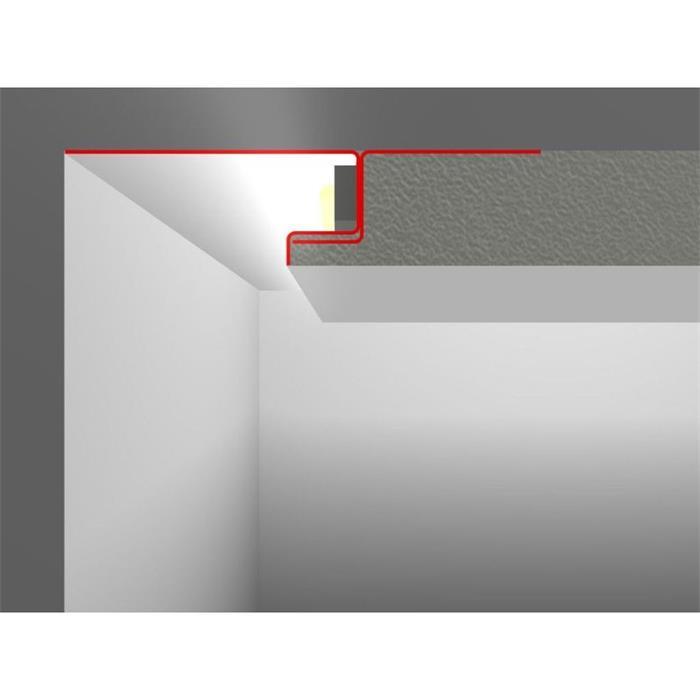 LED Profil Putzprofil SNL mit Sichtschenkel 20-80mm (Länge: 2m)