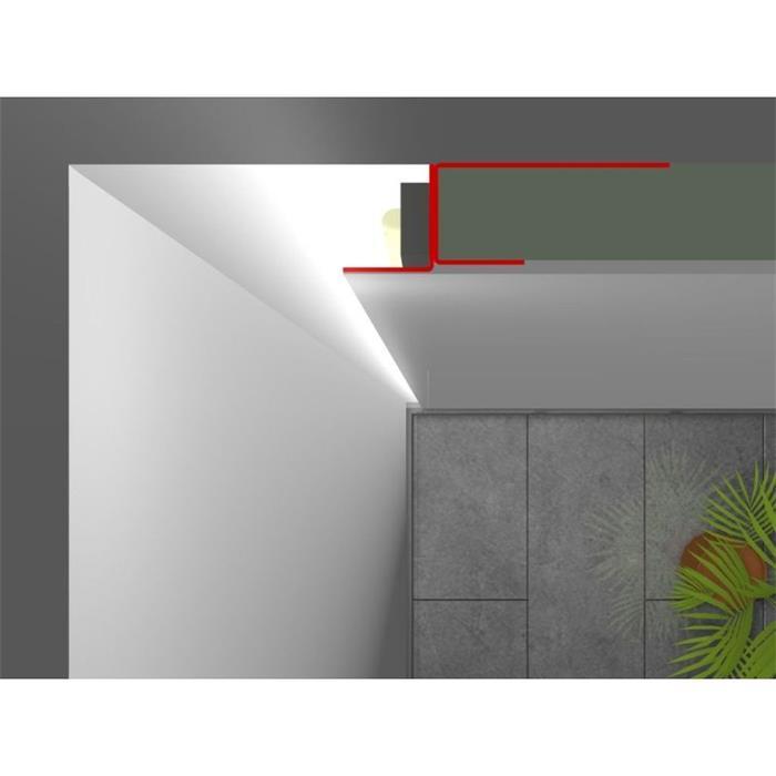 2m led profile f r trockenbau putz fliesen rigips. Black Bedroom Furniture Sets. Home Design Ideas