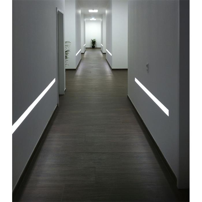 led trockenbau profil r10 f mit reflektor sichtschenkel l nge 2m rigips. Black Bedroom Furniture Sets. Home Design Ideas
