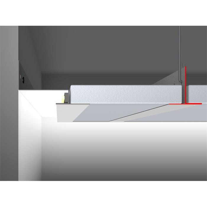 led profil trd 35 tr gerprofil f r raster gips kassettendecken l nge 2m. Black Bedroom Furniture Sets. Home Design Ideas