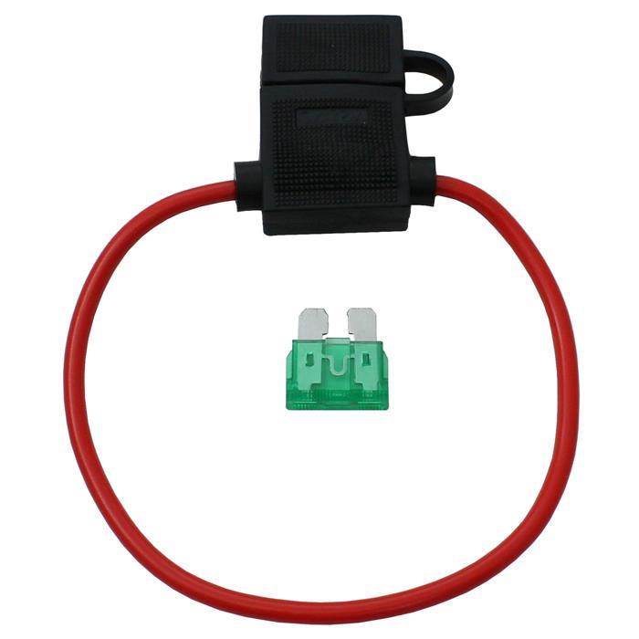 Sicherungshalter Flachsicherungen KFZ Kabel Sicherung Flachsicherungshalter 30A