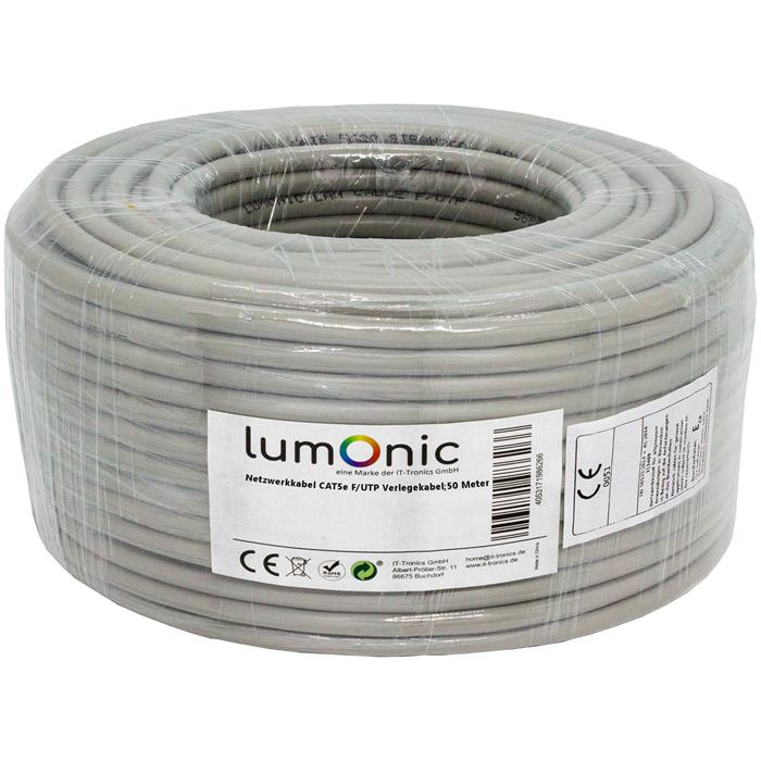 Network Cable Cat.5e 50m ; S/FTP PIMF ; Cat5 Ethernet Installation Cable