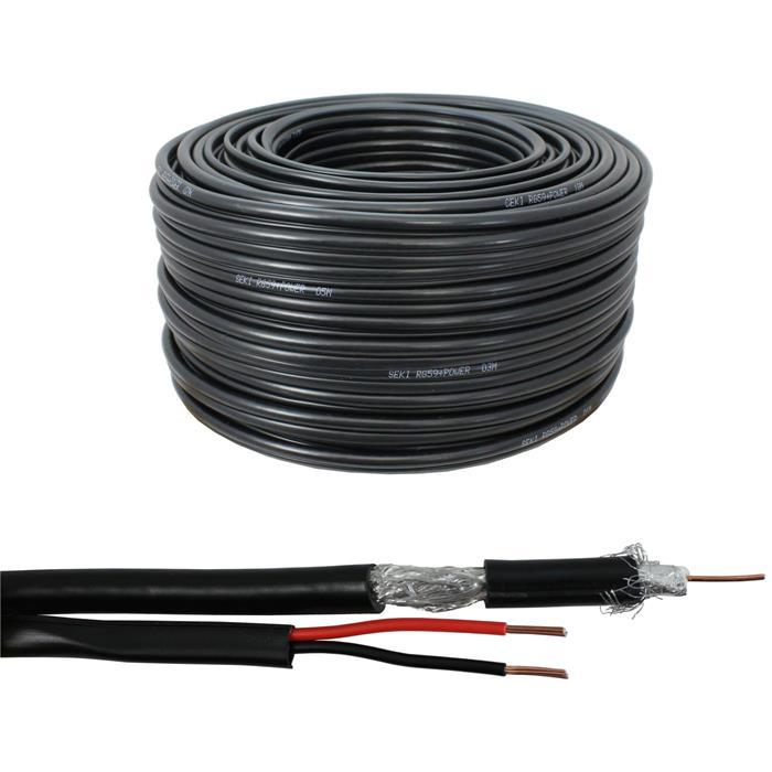 50m Sat Koax Kabel 120dB 4x geschirmt ; Koaxialkabel Antennenkabel 3D HD