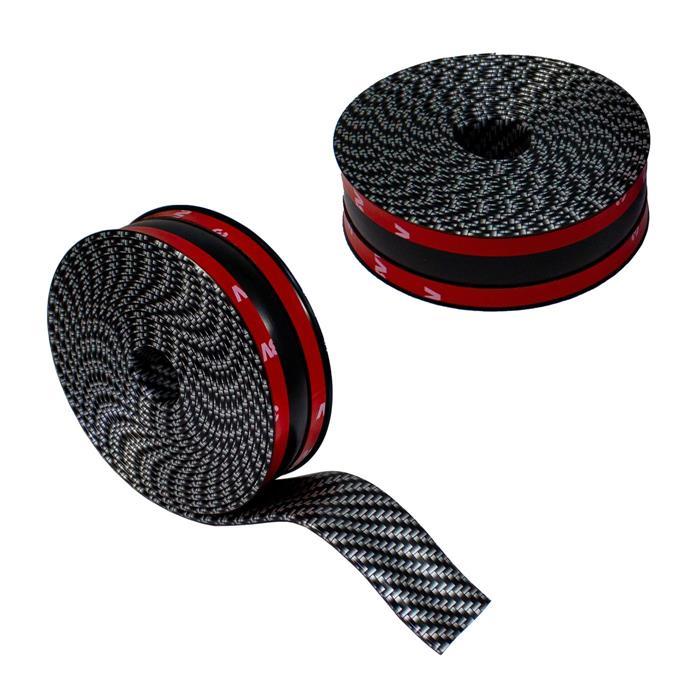 Auto Carbon Schutzleiste Kantenschutz Einstiegsleiste 3D-Effekt Gummi 3cm x 3m